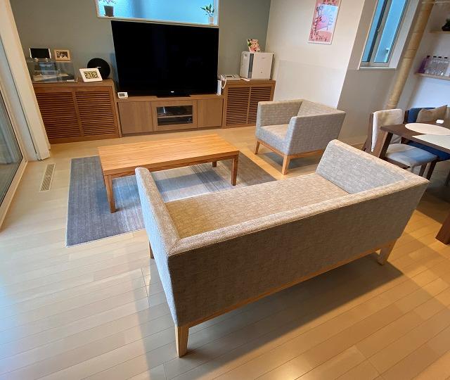 長崎県 Y様のコーディネート cielo sofa 2p + cielo sofa 1p + cielo low table
