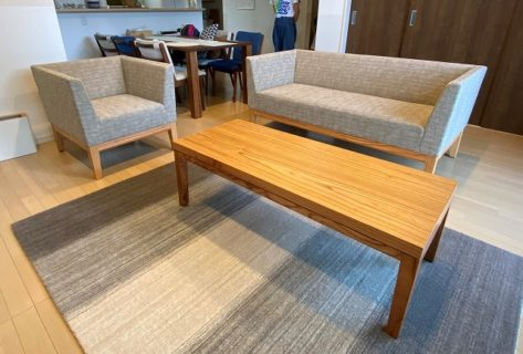 長崎県 Y様のコーディネート|cielo sofa 2p + cielo sofa 1p + cielo low table