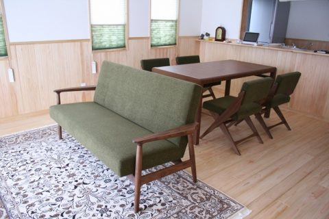 長崎県 N様のコーディネート|ef sofa 2.5p + ballena table + rudder chair