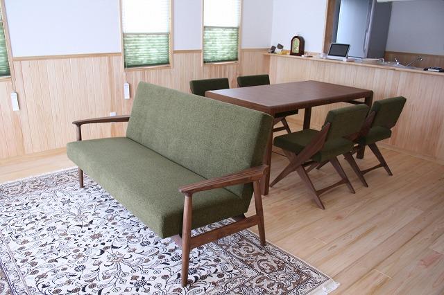 長崎県 N様のコーディネート ef sofa 2.5p + ballena table + rudder chair