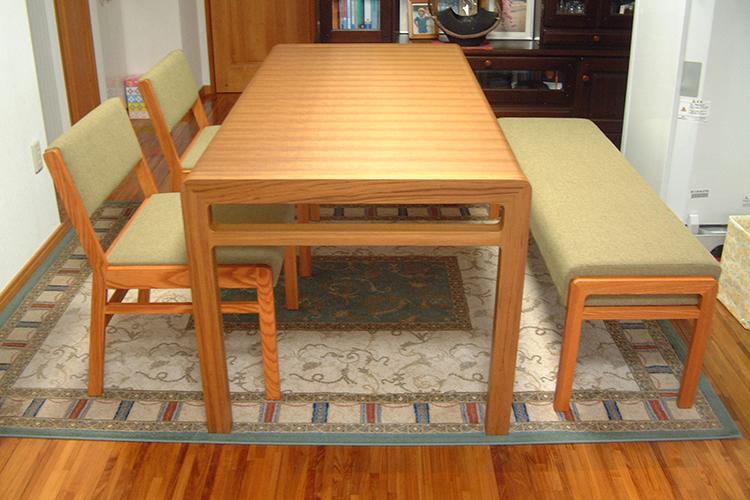 H様のコーディネート|ballena table + ballena chair + ballena bench