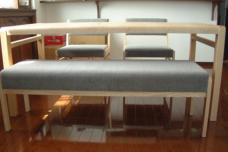 Y様のコーディネート COMBO corner sofa + ballena table + ballena chair + ballena bench