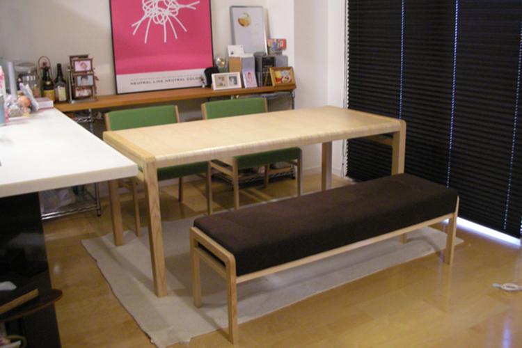 長崎県I様のコーディネート ballena table + ballena chair + ballena bench