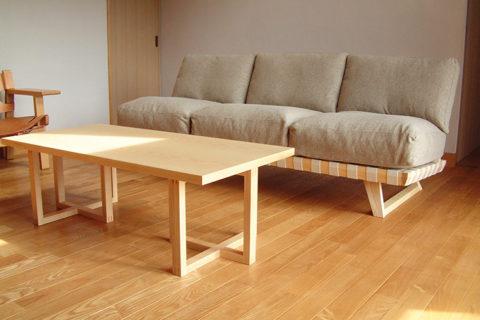 H様のコーディネート balsa sofa 3p + stroke low table