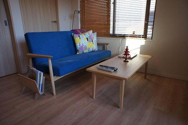 神奈川県H様のコーディネート ef sofa 2.5P + ibiza arm chair + ibiza bench