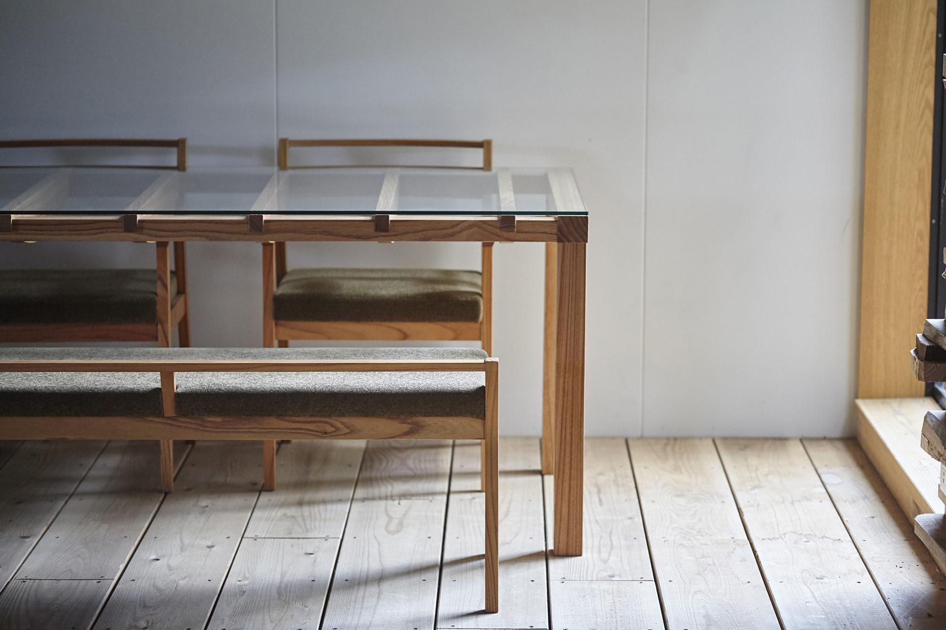 barco table + ibiza arm chair + ibiza bench