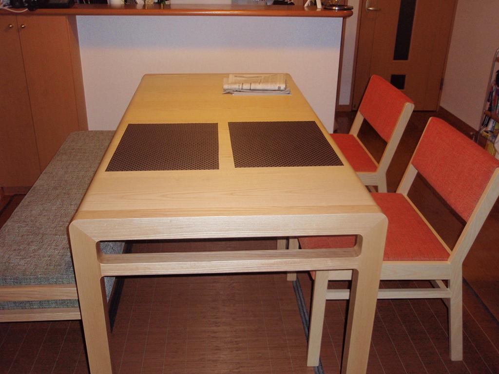長崎県 R様のコーディネート ballena table + ballena bench + ballena chair