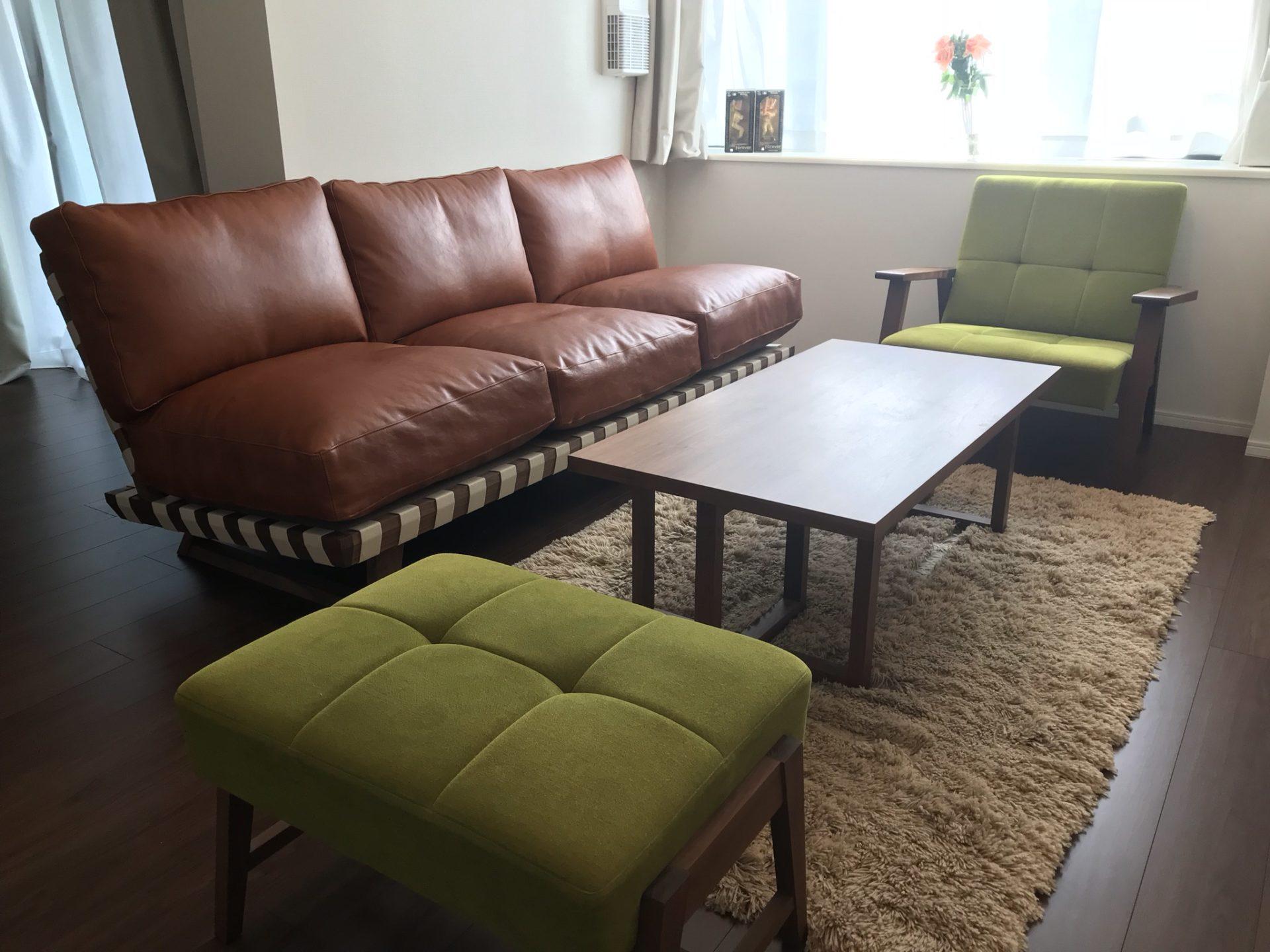 東京都 T様のコーディネート balsa sofa 3p+kai sofa set+stroke low table